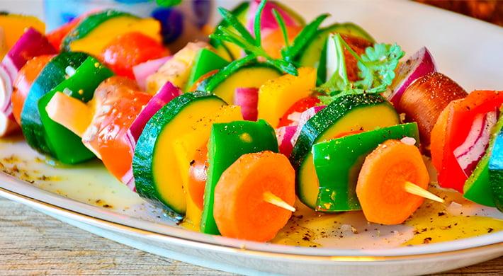 Brocheta Verduras y Cabritillo