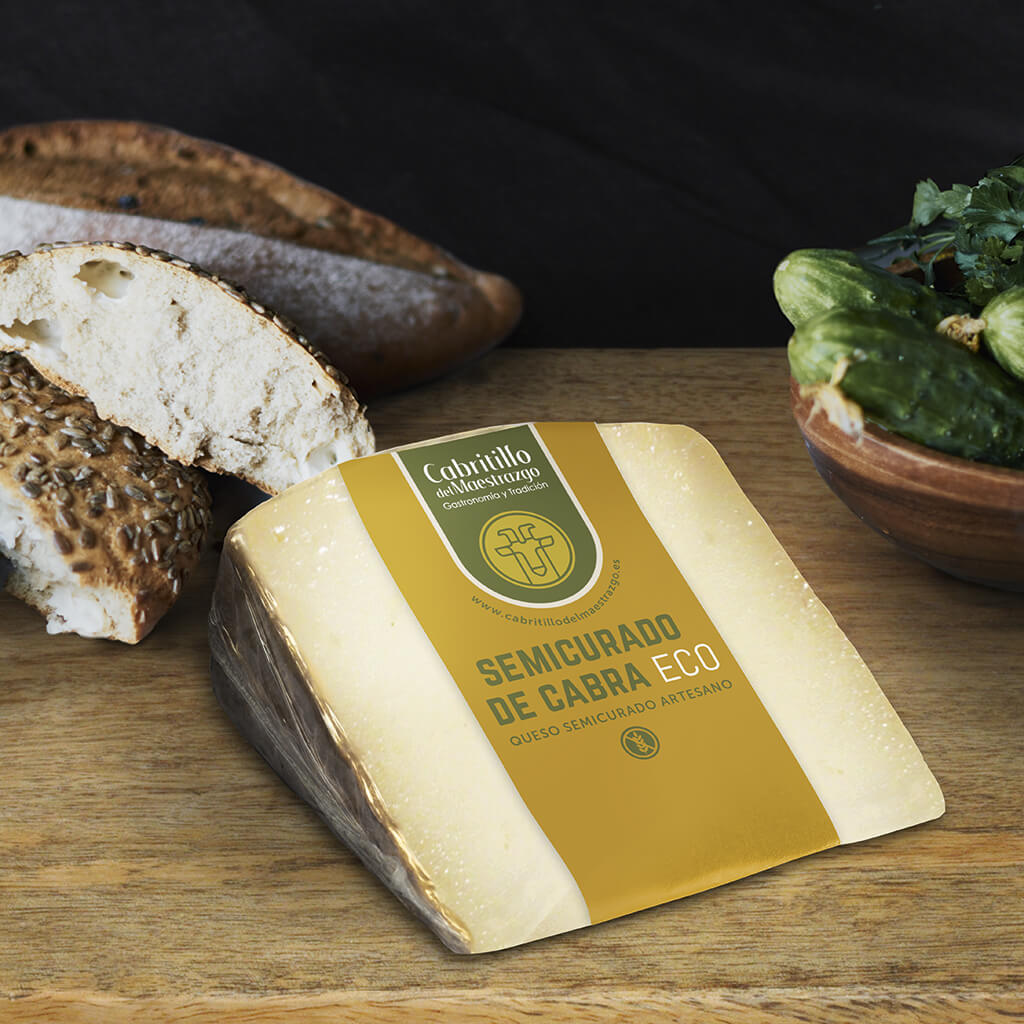 queso semicurado de cabra artesano ecologico
